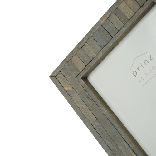 Set of Four, Pallet 5-Inch 7-Inch Wood Picture Frame, Gray