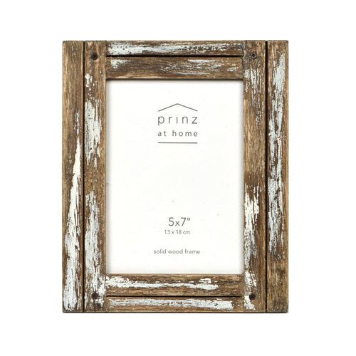 Set of Four, Homestead 5-Inch by 7-Inch Rustic Frame, Natural Finish