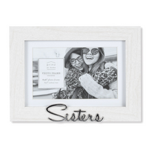 Load image into Gallery viewer, Matted White 7 X 5 to 6 X 4 Sisters Sentiment Picture Frame