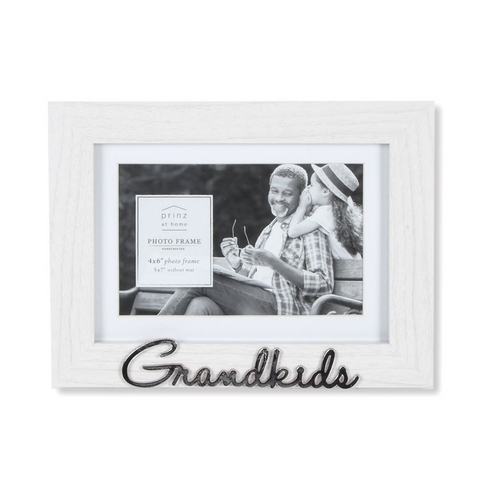 Matted White 7 X 5 to 6 X 4 Grandkids Sentiment Picture Frame