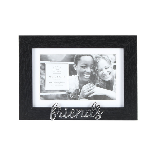 Matted Black 7 X 5 to 6 X 4 Friends Sentiment Picture Frame