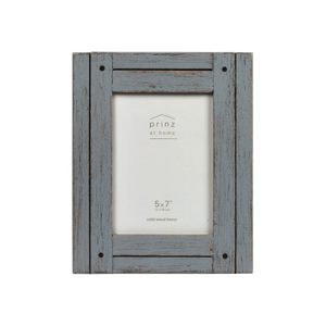 Set Of Four, Homestead 5-Inch by 7-Inch Rustic Frame, Gray