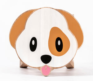 Dog Shaped Children's Stool with Color Printed Seat