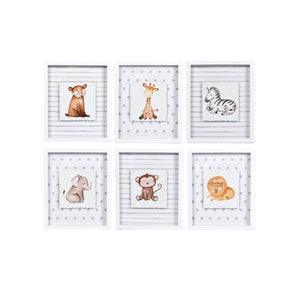 "Prinz Ava Barrett Set of 6, Baby Animal 10"" x 12"" Framed Wall Art"