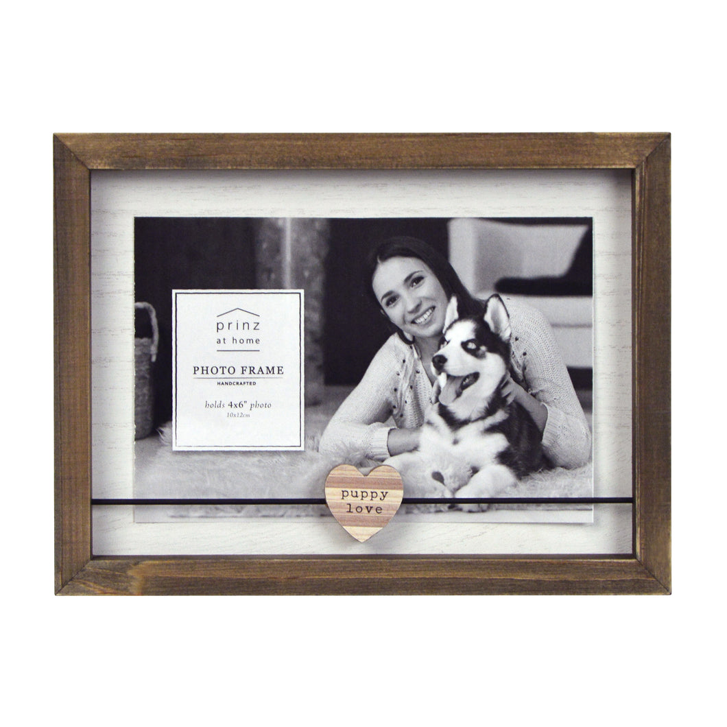 Puppy Love Boxed Wood Picture Frame
