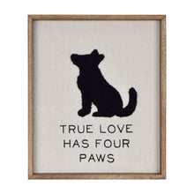 "Load image into Gallery viewer, New View Studio 10""x 12"" True Love Has Four Paws Dog Silhouette Decorative Wall Art"