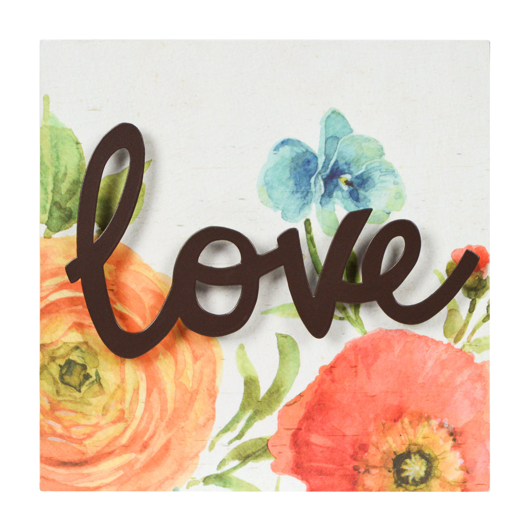 Lisa Audit Decorative Word Wall Art Sign, Love