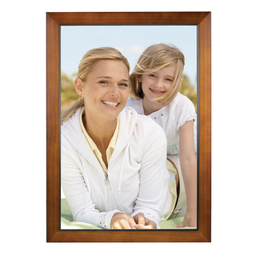 12-inch by 18-inch Dakota Walnut Finish Natural Wood Picture Frame