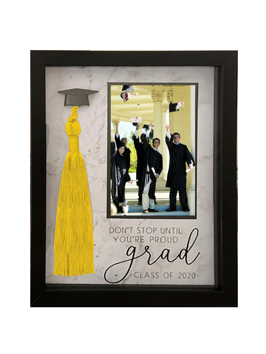 4-inch by 6-inch Picture Frame Tassel Holder Proud Class of 2020 Graduation Frame