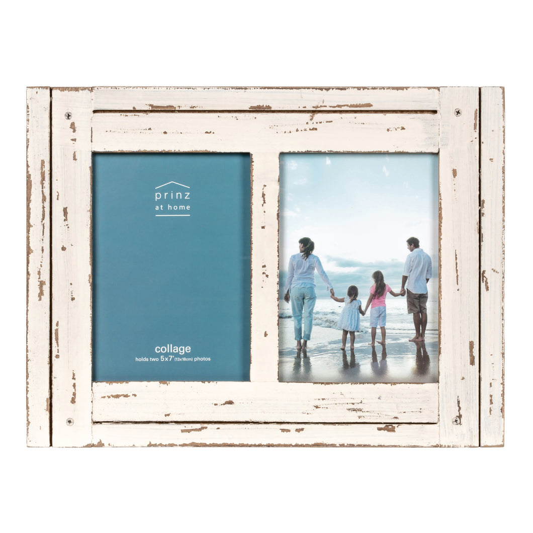 Prinz Homestead Two 5 x 7 Photo Collage Frame, White
