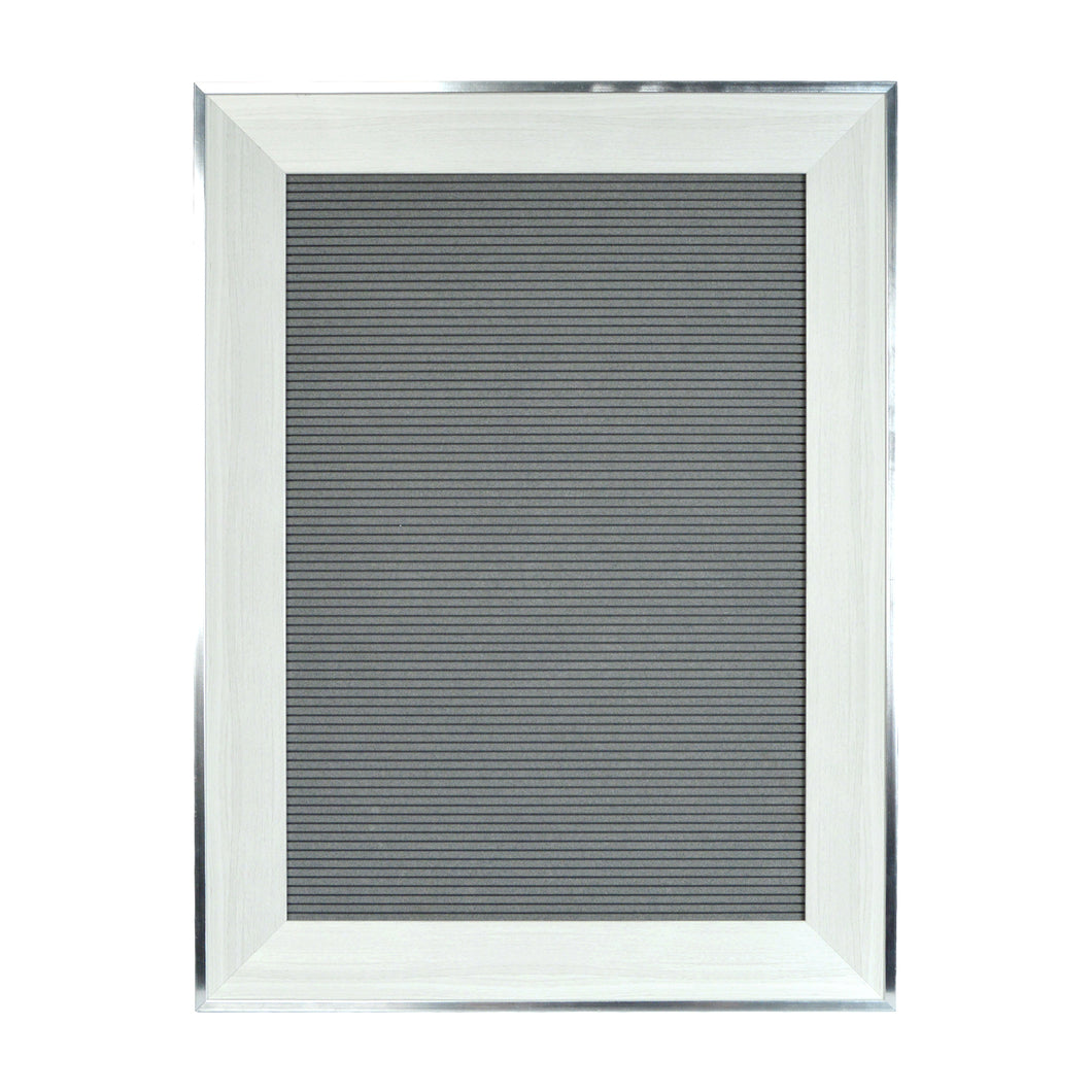 Large Framed Square Gray 18-inch by 24-inch Felt Letter Board