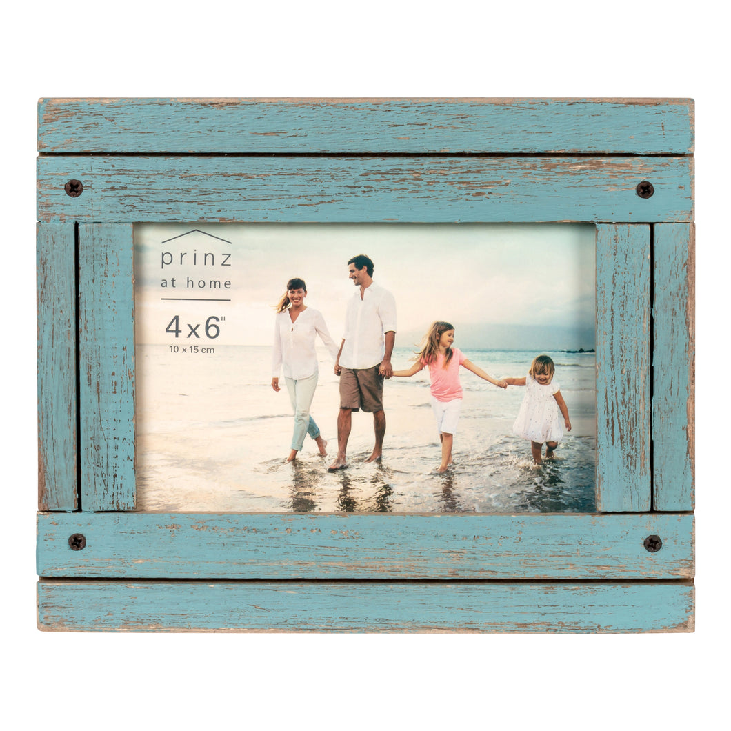 Prinz Homestead 4 x 6 Picture Frame Distressed Blue