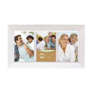 Dakota 3-Opening Collage Frame for 4-Inch by 6-Inch Photos, White