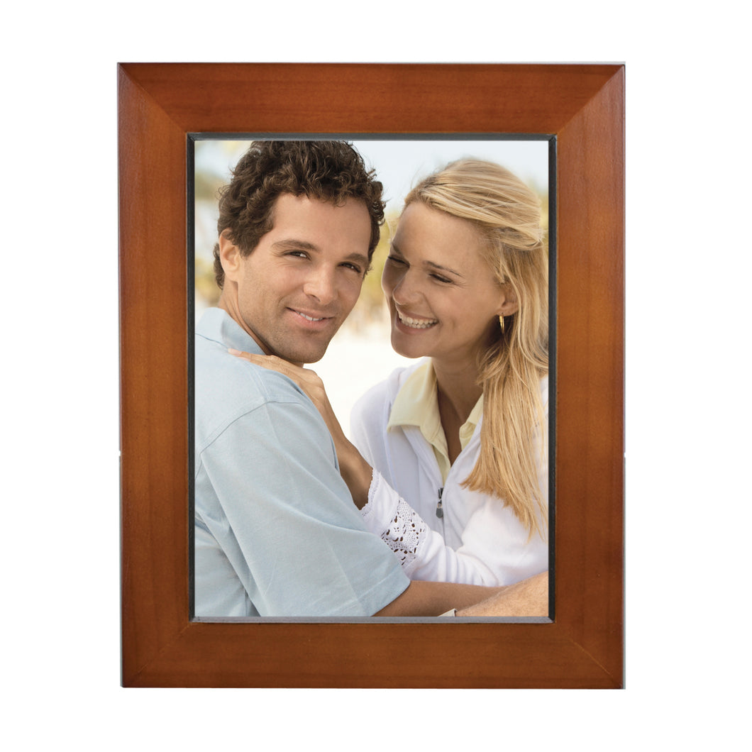 Dakota Walnut Finish Natural Wood Picture Frame, for 6-inch x 8-inch Photos – Velvet Backing