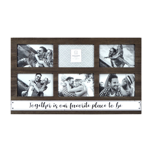 Prinz 6 Opening Together is Our Favorite Place Hanging Collage Frame