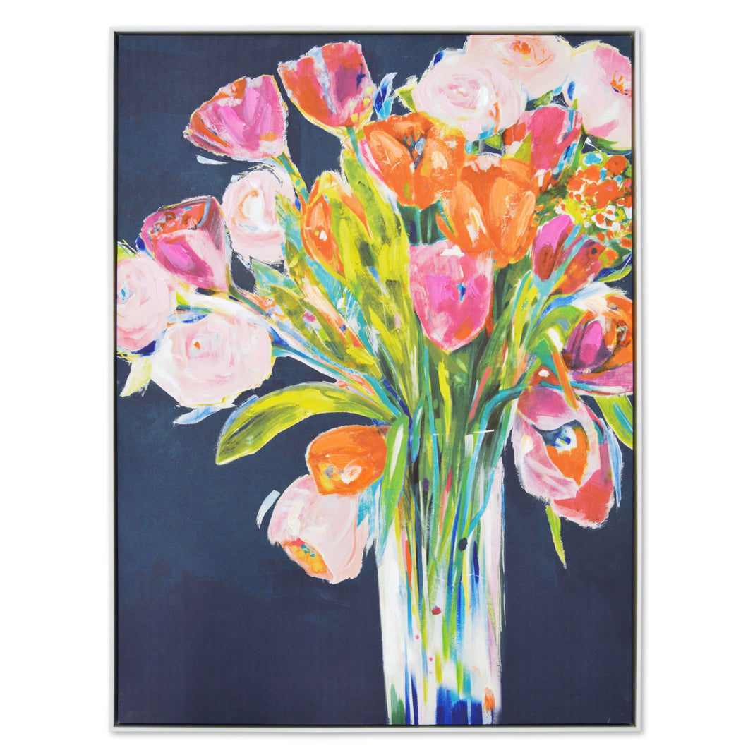 Prinz Framed Flower Bouquet Bright Floral Canvas Wall Art