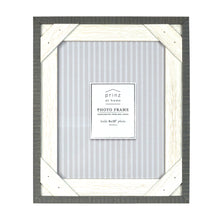 Load image into Gallery viewer, Prinz Crosshatch 8 x 10 Wood Picture Frame, Gray-White