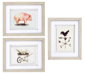 Prinz Framed Farmhouse 3PC Wall Art Set