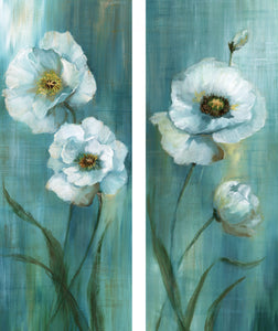 Prinz Forest Blossoms 8-inches by 20-inches Canvas Wall Art Set of 2