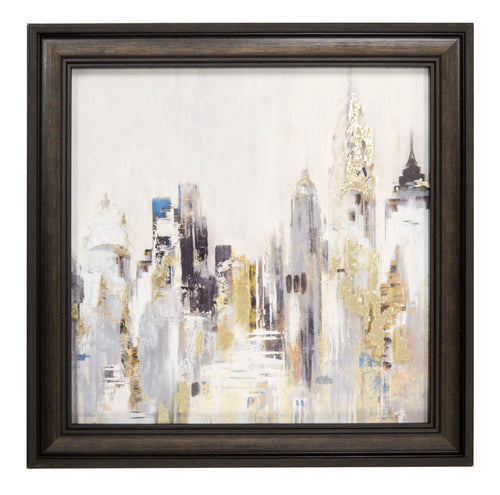 Prinz City Scape Wall Art Framed Behind Glass