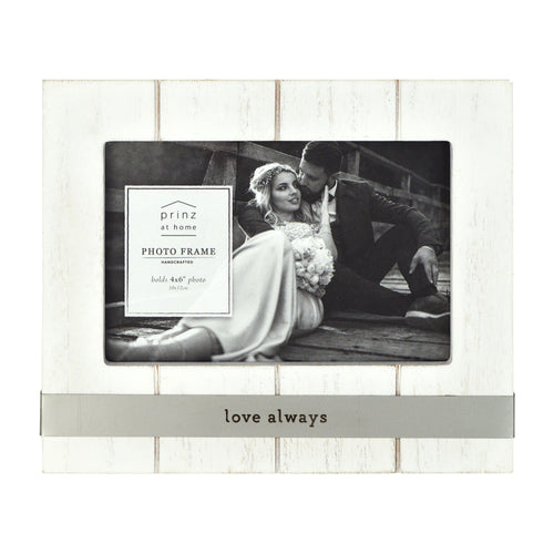 Love Always Metal Band Plank Horizontal Picture Frame
