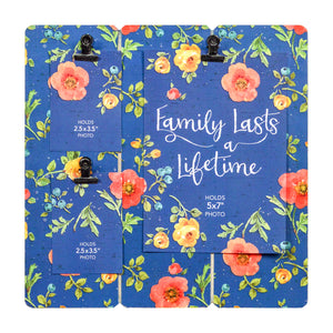 Prinz 3 Photo Clip Lisa Audit Blue Floral Collage Photo Display