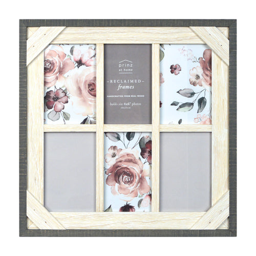 Reclaimed 14.8 x 14.8 Crosshatch Wood Collage Picture Frame