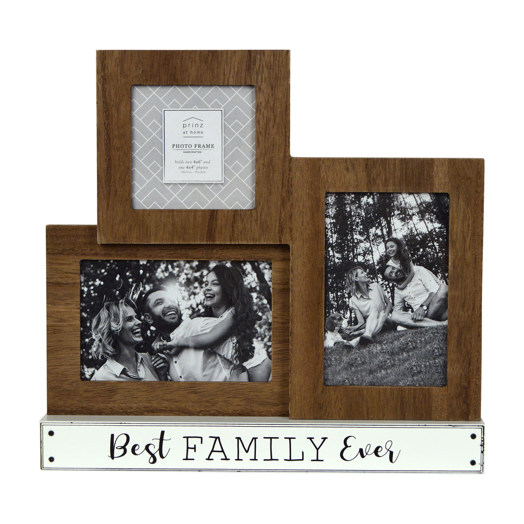 Prinz 3-Opening Tabletop Collage Picture Frame Best Family Ever