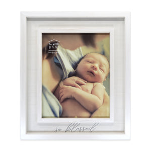 So Blessed 8 x 10-inch Boxed Wood Baby Picture Frame