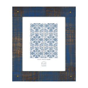 Mixed & Mingled 8 x 10 Reclaimed Wood Picture Frame, Indigo Blue