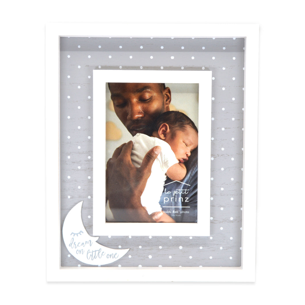 Dream On Little One 4 x 6-inch Wood Baby Picture Frame