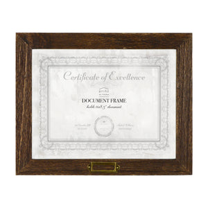Cottage 11 x 8.5 Walnut Molded Wood Grain Document Frame