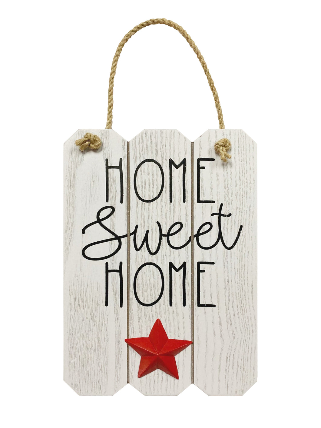 Prinz Patriotic White Door and Wall Hanger with Raised Icon Home Sweet Home