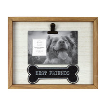 Load image into Gallery viewer, Best Friends Plush Bone 4 x 6-inch Wooden Picture Frame with Clip