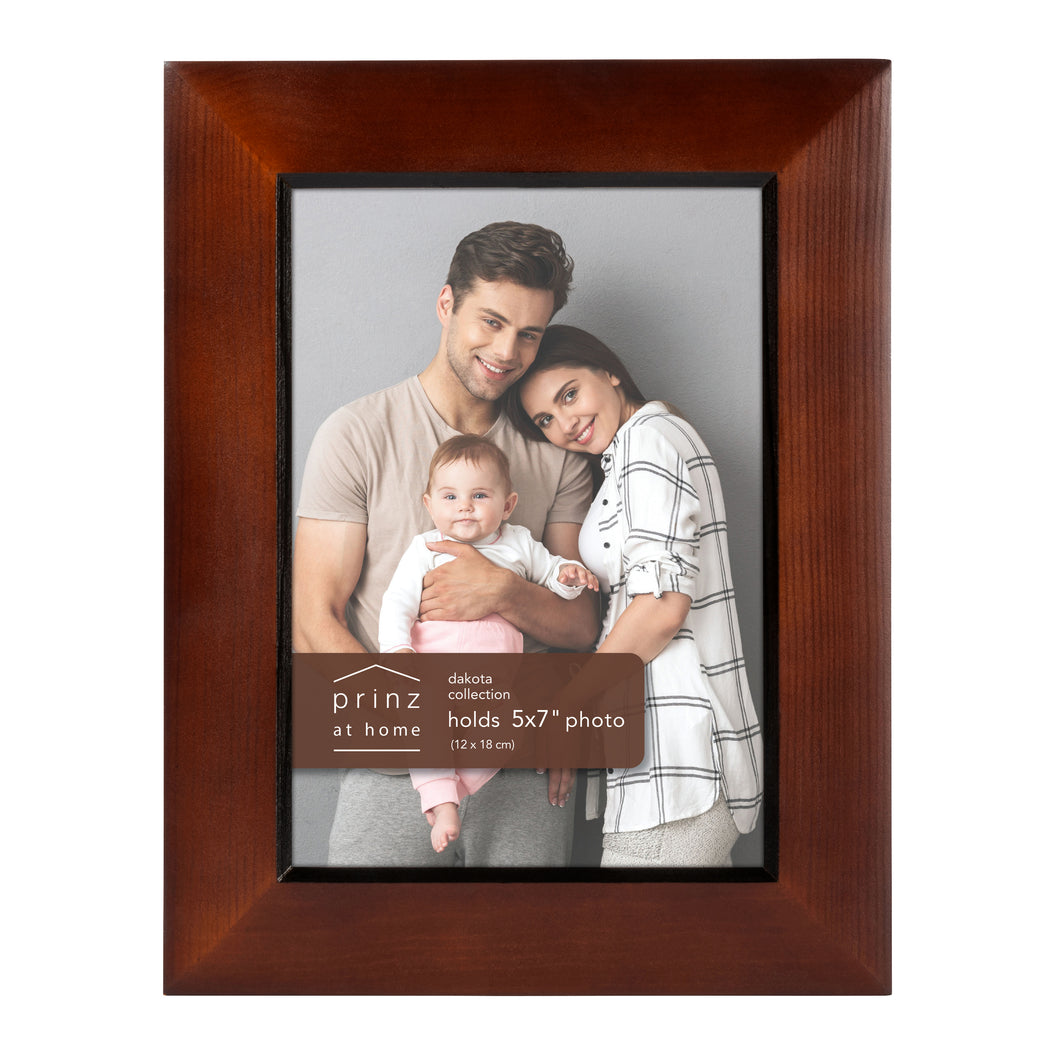 Prinz Dakota 5 Inch X 7 Inch Wood Picture Frame Dark Picture Walnut