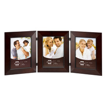 Load image into Gallery viewer, Dakota 5-Inch by 7-Inch Collage Picture Frame for Three Photos, Dark Walnut