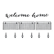 Load image into Gallery viewer, Welcome Home Hanging Entryway Wall Organizer Set 20-inches by 13-inches