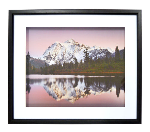 Purple Mountains Framed and Matted Shadowbox Print 21-inches by 25-inches
