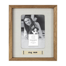 Load image into Gallery viewer, Dog Mom Boxed Wood 4 x 6-inch Picture Frame with Linen Mat
