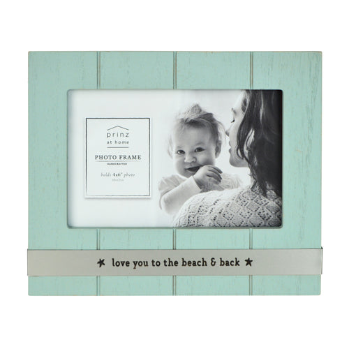 Love You to the Beach Metal Band Plank Horizontal Picture Frame
