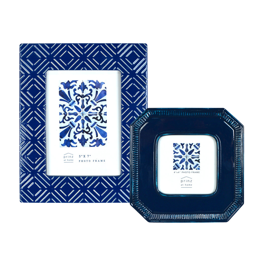Mixed & Mingled Picture Frame Set, Indigo Blue