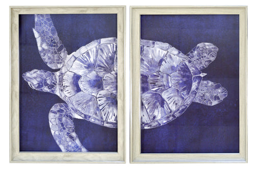 Prinz Nautical Sea Turtle Split Frame Print