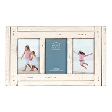 Load image into Gallery viewer, Homestead Collage 4-inch by 6-inch Picture Frame for Three Photos, Distressed White