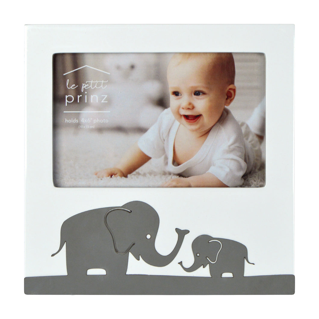 Elephant Metal Band Horizontal Glossy 4 x 6-inch Picture Frame
