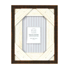 Load image into Gallery viewer, Prinz Reclaimed Walnut White 4 X 6 Crosshatch Wood Picture Frame