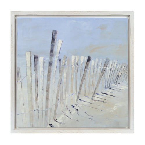 Prinz Coastal Dune Blue Decoupaged Inset Wall Art Framed