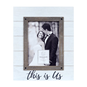 Wedding This Is Us Rustic 5 x 7-inch Plank Picture Frame, White