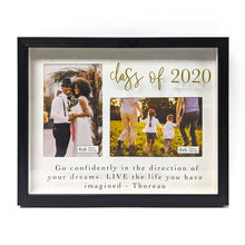 Load image into Gallery viewer, Graduation 2020 Thoreau Quoted 2-Opening 3.5-inch by 5-inch Shadowbox Picture Frame