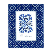 Load image into Gallery viewer, Mixed & Mingled 5 x 7 Embossed Picture Frame, Dark Blue