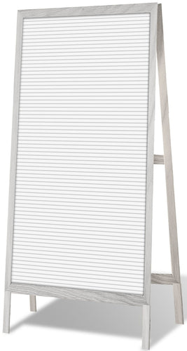 Free-standing Sandwich Easel 16.7-inch by 35.5-inch with 188 Changeable Letters, White